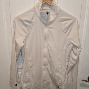 Ivory Zip Up Sweatshirt Under Armour Large
